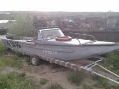 Продам лодку. длина 9,00м., двигатель подвесной, 60,00л.с., бензин