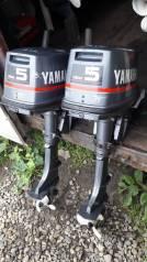 Yamaha. 5,00л.с., 2х тактный, бензин, нога S (381 мм), Год: 2000 год