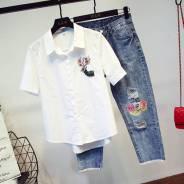 Рубашки джинсовые. 38, 40, 42, 44, 46, 48. Под заказ