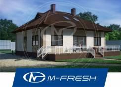 M-fresh TET-A-TET (Вот! Красивый проект 1-этажного дома с мансардой! ). 100-200 кв. м., 1 этаж, 4 комнаты, бетон