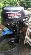 Nissan Marine. 9,80л.с., 4х тактный, бензин, нога S (381 мм), Год: 2007 год