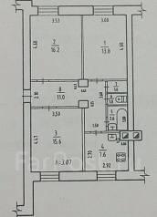 3-комнатная, улица Жуковского 31. Железнодорожный, частное лицо, 68 кв.м. План квартиры