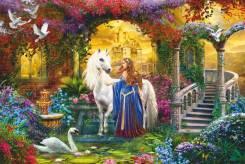 Пазл (мозаики) Принцесса и единорог, 500 элементов