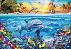 Пазл (мозаика) Дельфины 2000 элементов