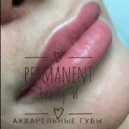 Перманентный макияж-татуаж губ, бровей в акварельной технике от 5000руб