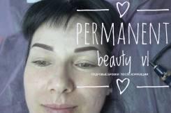 Перманент, макияж -Пудровые брови , микроблейдинг бровей