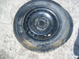 Запасное колесо в сборе, стальной диск р15 5х112 Фольксваген Пассат Б5. 6.0x15 5x112.00 ЦО 57,1мм.