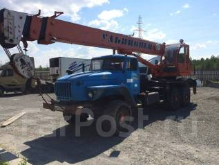 Ульяновец МКТ-25. Продам Автокран на базе Урала, 11 150 куб. см., 25 000 кг., 21 м.
