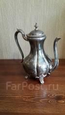 Кофейник, чайник, большой, старинный с серебром, Англия, 19 век. Оригинал