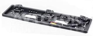 Камера заднего вида в рамке номера с парктроником