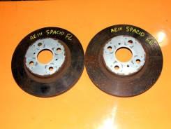 Диск тормозной. Toyota Corolla Spacio, AE111N, AE111 Двигатель 4AFE