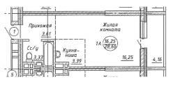 1-комнатная, Чукотская 1. Кировский, агентство, 29 кв.м.