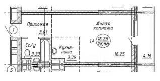 1-комнатная, Чукотская 1. Кировский, агентство, 28 кв.м.