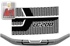 Дефлектор капота. Toyota Land Cruiser, VDJ200, J200, URJ202, URJ202W Двигатели: 1VDFTV, 3URFE, 1URFE