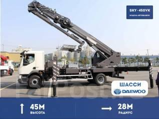Horyong Sky. Коленчато телескопическая автовышка Horyong SKY-450VK на шасси Daewoo, 6 000 куб. см., 45 м. Под заказ