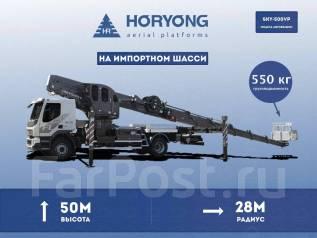 Horyong Sky. Автовышка Horyong SKY-500VP, рабочая высота 50 м. люлька 550 кг., 7 600 куб. см., 50 м.