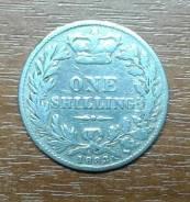 Великобритания (Англия) 1 шиллинг 1883 Victoria. KM 734.4 Серебро