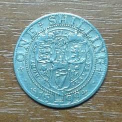 Великобритания (Англия) 1 шиллинг 1899 Victoria. KM 780. Серебро