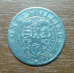 Великобритания (Англия) 1 шиллинг 1900 Victoria. KM 780. Серебро