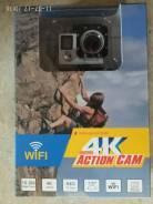 Экшн камера 4k 16мп (камера для спорта и отдыха)wi-fi. 15 - 19.9 Мп, с объективом