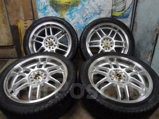 Продам Стильные Редкие колёса DTM+Лето Жир215/45R17Toyota, Subaru, Honda. 7.0x17 5x100.00, 5x114.30 ET50