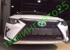 Бампер в стиле Lexus для Toyota Camry (камри) 50/55 +фары. Toyota Camry. Под заказ