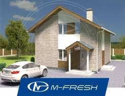 M-fresh Leo (Дизайн-проект компактоного дома с мансардой). 100-200 кв. м., 2 этажа, 4 комнаты, бетон
