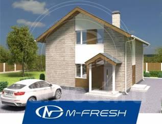 M-fresh Leo (Проект компактного дома для дружной семьи! ). 100-200 кв. м., 2 этажа, 4 комнаты, бетон