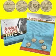 * Австралия набор 4 монеты по 1 доллар 2017 Война рядом с домом