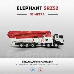 Elephant 5RZ52. Бетононасос Elephant 52 метра, на шасси Daewoo 2017 г., 11 000 куб. см., 52 м.