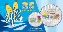 * Австралия набор 2 монеты - 5 и 20 центов 2017 Bananas in Pyjamas