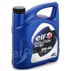 Elf Evolution. Вязкость 5W-40, синтетическое