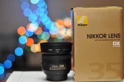 Объектив Nikon Nikkor 35mm 1.8G DX. Для Nikon, диаметр фильтра 52 мм