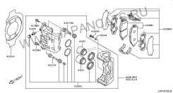 Противоскрипные накладки на колодки Infiniti FX S50 2003-2007