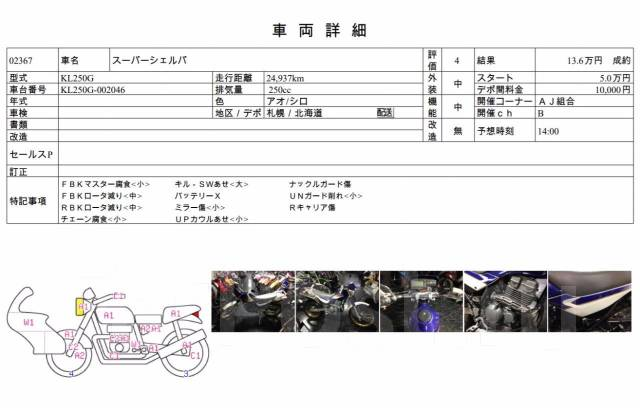 Kawasaki Super Sherpa. 250куб. см., исправен, птс, без пробега