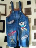Комбинезоны джинсовые. Рост: 68-74, 74-80, 80-86 см