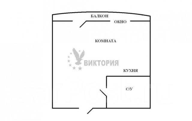 1-комнатная, улица Сабанеева 16в. Баляева, агентство, 36 кв.м. План квартиры