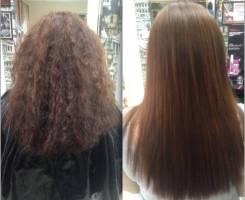 Кератиновое выпрямление восстановление волос !