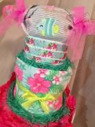 Подарок для новорожденного торт из подгузников! (Японские Moony)
