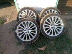 Продам Стильные Редкие под Чёр. Хром Subaru+Лето 225/40R18. 7.5x18 5x100.00 ET55 ЦО 56,1мм.