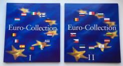 Альбом Leuchtturm для хранения регулярных евромонет том 1 и 2