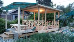 Строим дома, дачи, беседки, веранды, все из дерева