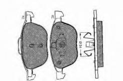Колодки тормозные. Mazda Mazda3, BL, BL12F, BL14F, BLA4Y
