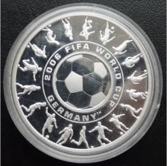 1доллар+25центов. Австралия.2006г. ЧМ по футболу в Германии. Аg. Proof