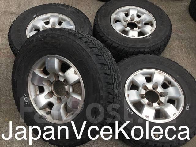 255/70R15 Bridgestone A/T на литье Nissan (15502). 7.0x15 6x139.70 ET40