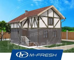 M-fresh Stand ART-зеркальный (Проект вместительного дома! ). до 100 кв. м., 2 этажа, 4 комнаты, дерево