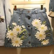 Юбки джинсовые. 38, 40, 42, 44, 46, 48. Под заказ