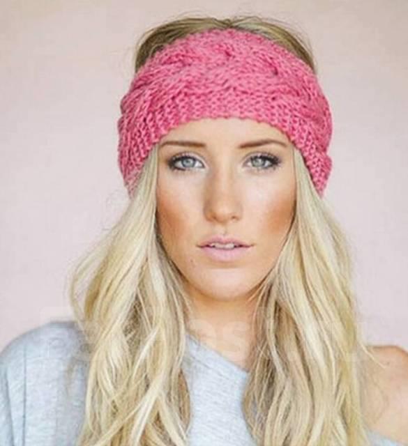 модные тенденции вязаная повязка на голову головные уборы во