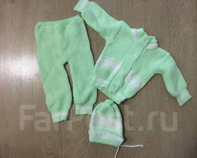 вязаный костюм для малыша 3 6 месяцев детская одежда во владивостоке