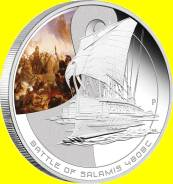 О-ва Кука 1 доллар 2010 Salamis. Серия 'Famous Naval Battles'